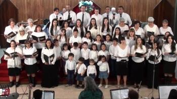 Iglesia Evangelica Pentecostal. Alabanza coro de la iglesia junto a coro de niños(2). 23-09-2018
