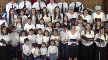 Iglesia Evangelica Pentecostal. Alabanza coro de la iglesia junto a coro de niños(1). 23-09-2018