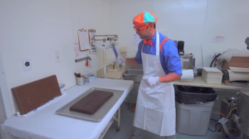 Blippi Tours the Chocolate Factory _ Learn about Food for Children