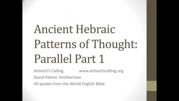Hebraic Patterns of Thought: Parallel Part 1