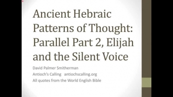 Hebraic Patterns of Thought: Parallel Part 2