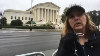 Praying Outside the Supreme Court the Day Before Amy Coney Barrett Is Confirmed