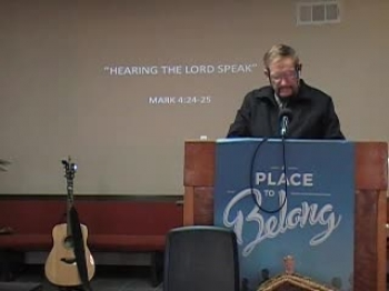 Hearing the Lord Speak