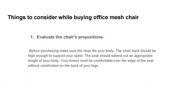 MESS OFFICE CHAIR