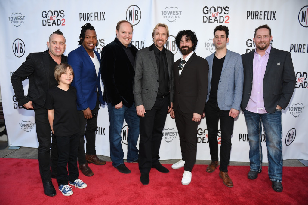 "FRANKLIN, TN - MARCH 29: VIP guests attend the Newsboys/Pureflix Nashville Premiere of ""God's Not Dead 2"" at Franklin Theatre on March 29, 2016 in Franklin, Tennessee. (Photo by Jason Davis/Getty Images for Newsboys)"