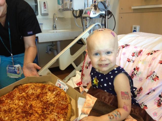 Hazel's get pizza!!!