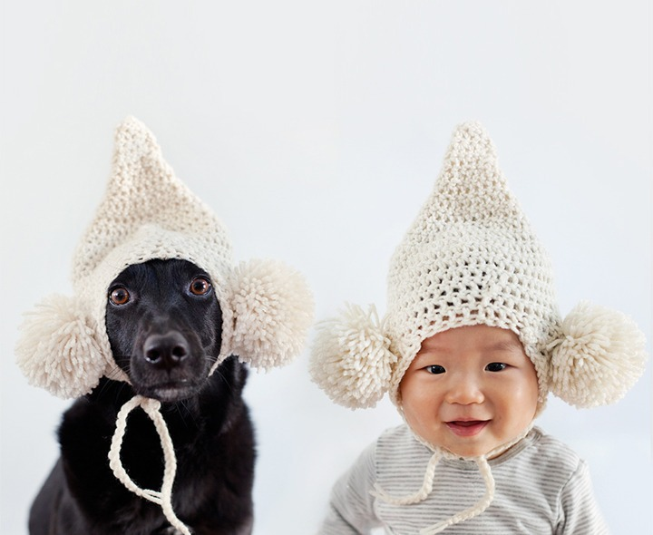 And when they are not in hoodies, they wear their darling knit hats.