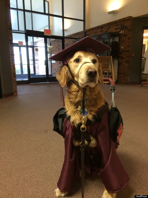 Walton in his cap and gown.