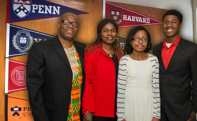 Kwasi's and his proud family.