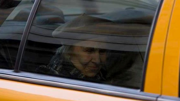 Elderly Woman Rides in Cab