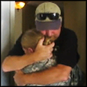 Soldier Returns Home to Surprise her Dad on his Birthday