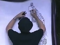 Man Draws the Face of Christ in a Very Creative Way