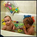 adorable twin babies giggle in the bath tub cute video. Black Bedroom Furniture Sets. Home Design Ideas