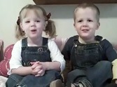 Charming British Twins Recite Psalm 23 - So Sweet