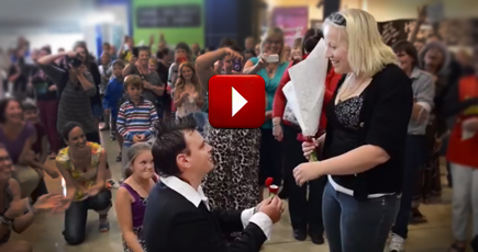 Mall Flash Mob Turns into a Tear-jerking Proposal!