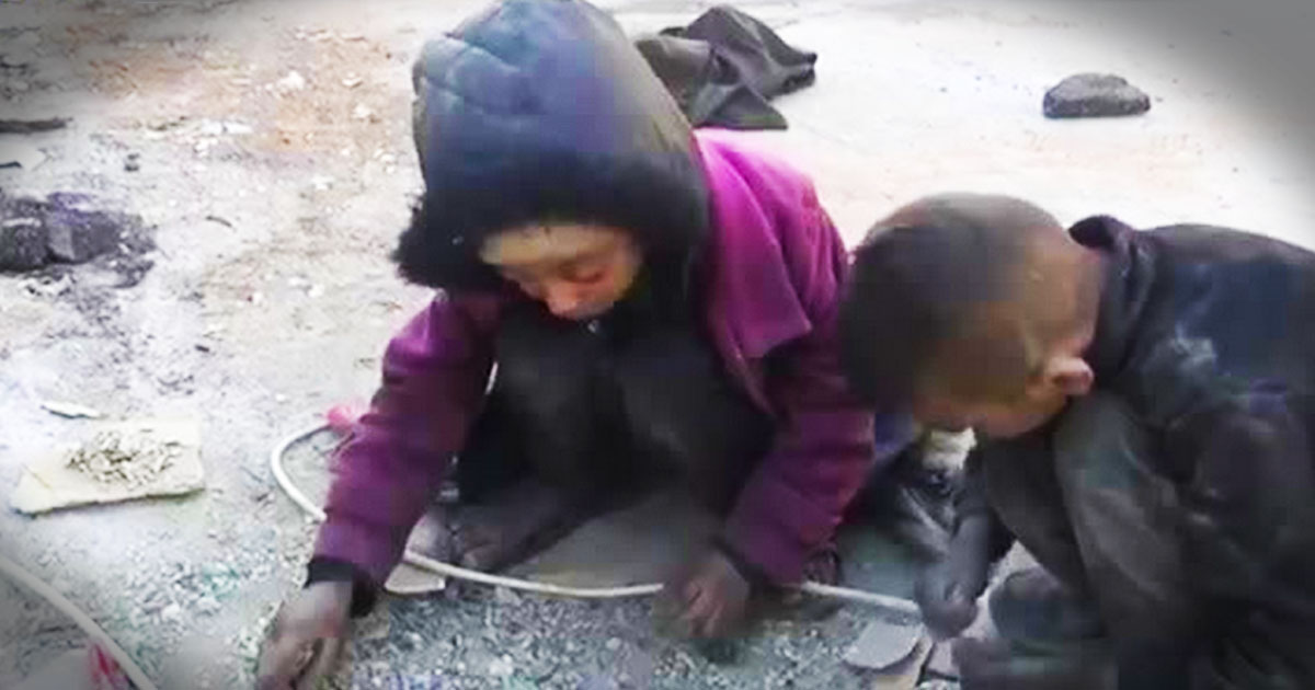 What These Poor Children Are Doing Will Break Your Heart. What They Say at 2:27 Is Incredible. Whoa!