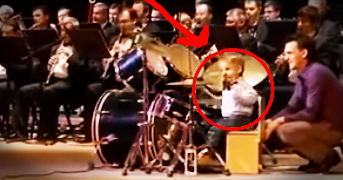 This Little Drummer Boy Is About To Knock Your Socks Off. And He's Only 3 Years Old!