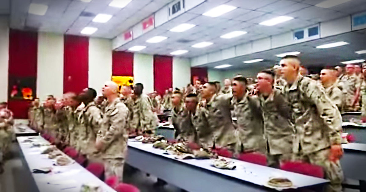 When You See These Military Men Worship The Lord You'll Get Chills. God Bless Them For Their Service