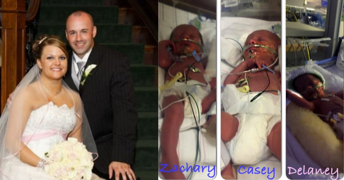 Couple Welcomes Triplets after Three Miscarriages