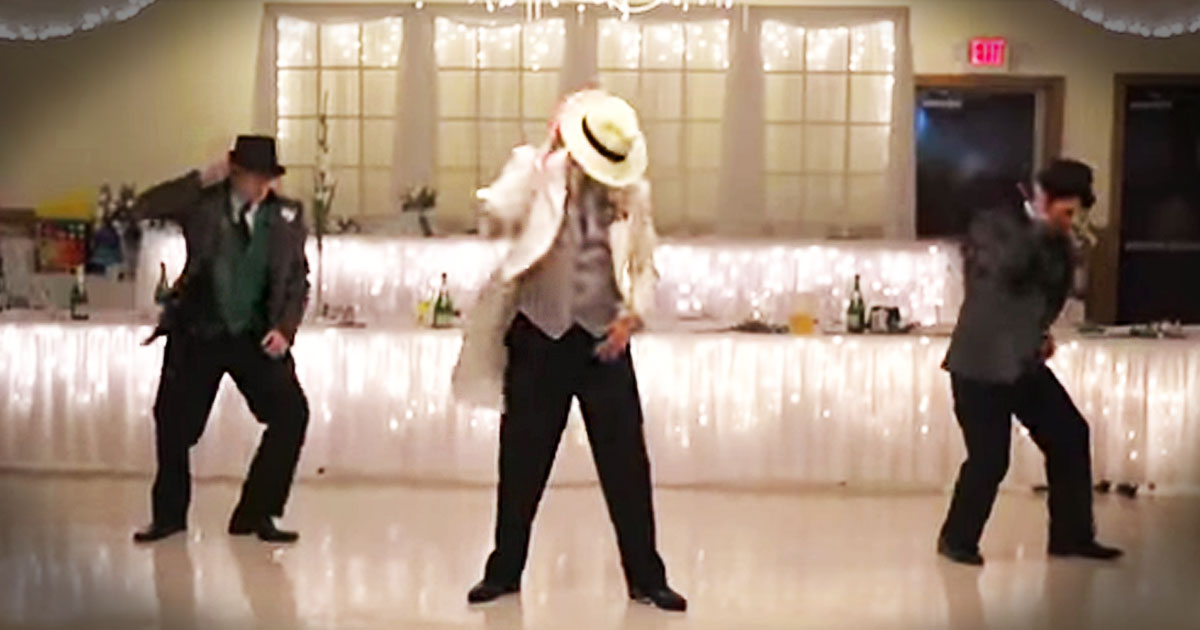 A Wedding Party Stuns Their Guests With A Smooth Surprise Dance