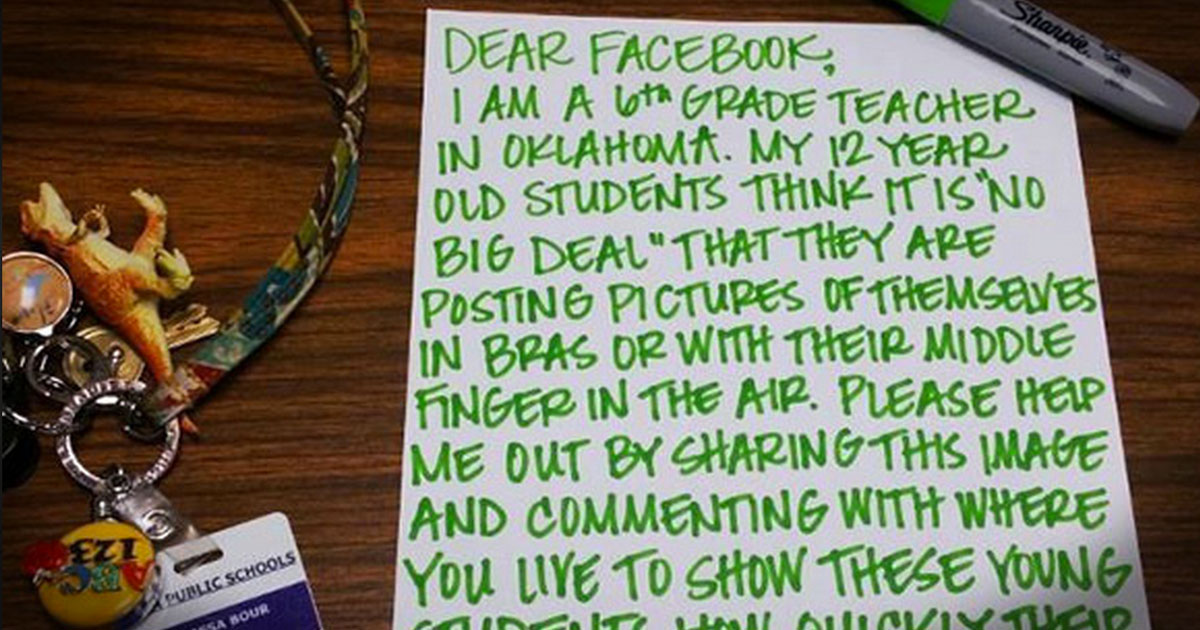 This Teacher Takes Internet Safety Head On To Protect Her Students!