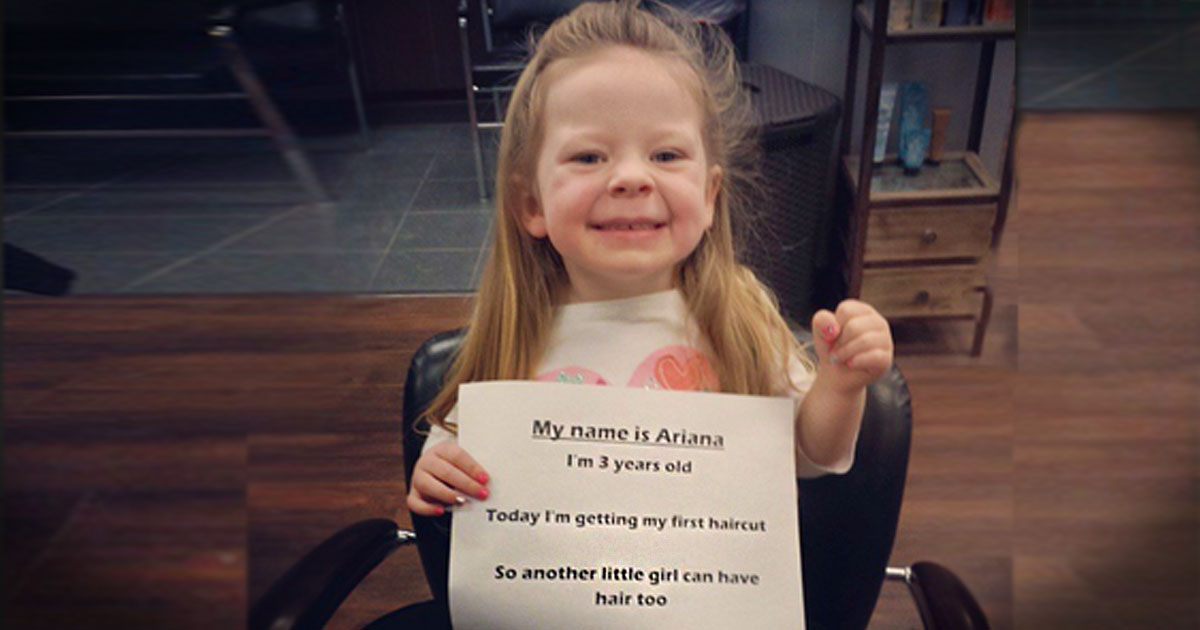 3-Year-Old Arianna Smith Donates Hair For Locks Of Love