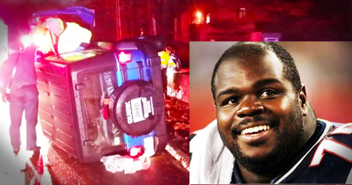 Patriots' Defensive Lineman, Vince Wilfork, Pulls Woman From Flipped Car