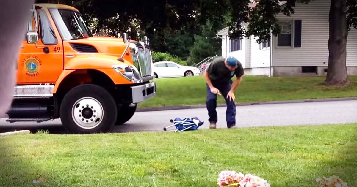 Wait Til You See Why He Just Couldn't Stay In the Trash Truck!