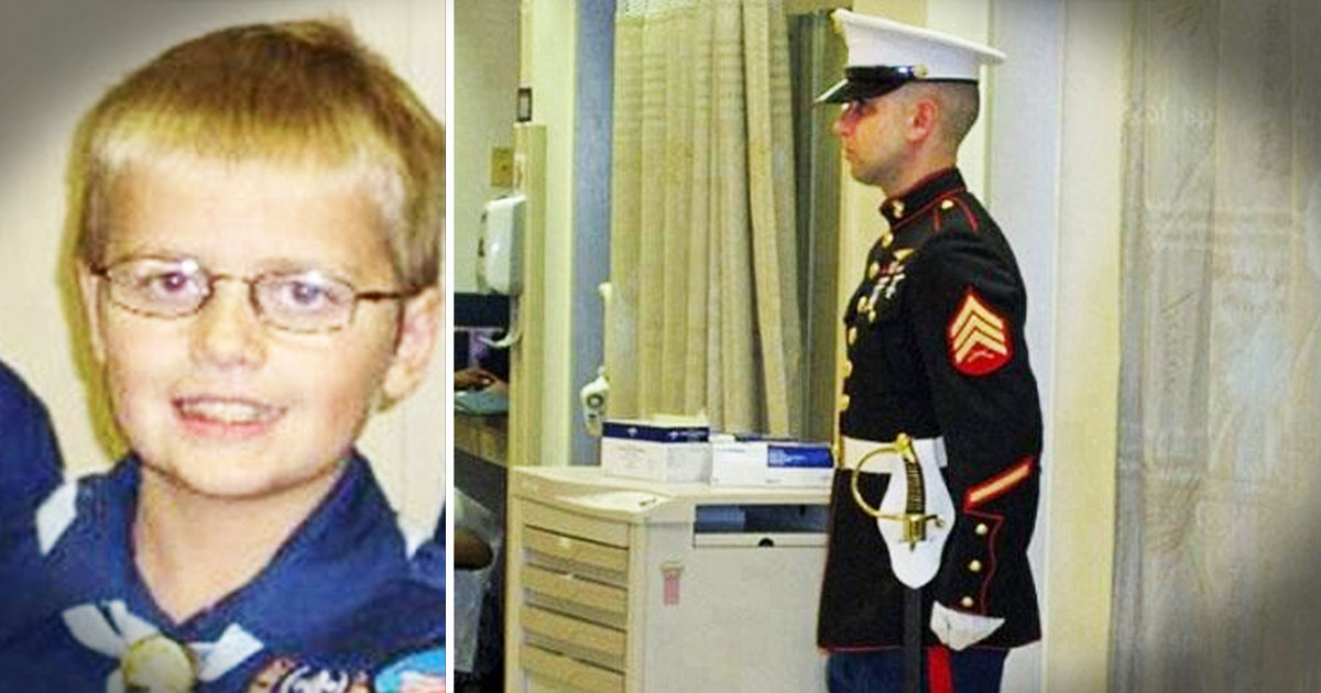 What This Marine Did For A Boy Fighting His Final Battle. . .TEARS!