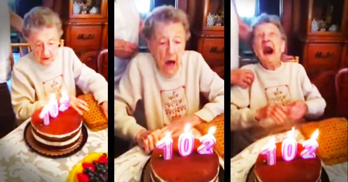 Apparently, This 102-Year-Old Had A Big Wish For Her Birthday--LOL!