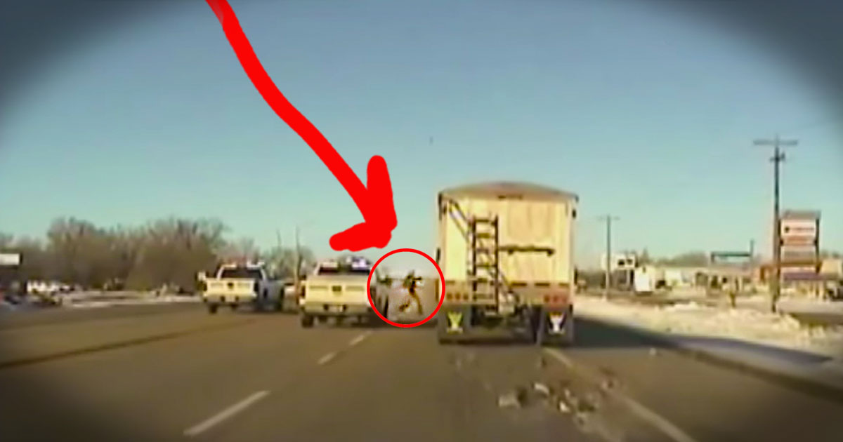 HOW This Police Officer Saved A Run Away Truck Is Stunning