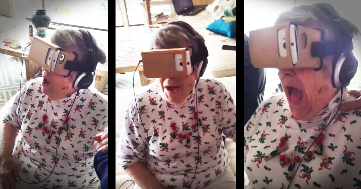 Granny's First Virtual Reality Experience Will Have You Cheering Along