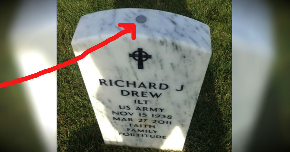 Here's Why Coins Are Left On A Soldier's Grave