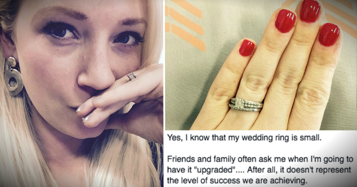 Woman Responds To Too Small Wedding Ring