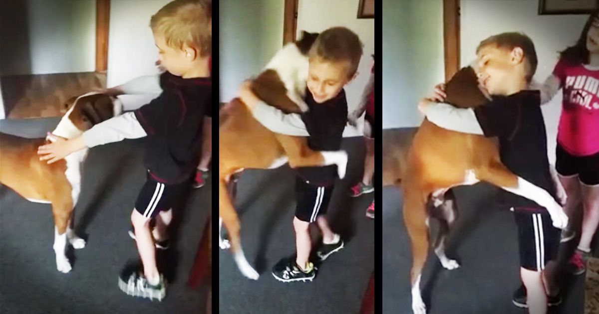 Dog's Hugging Trick Will Melt Your Heart