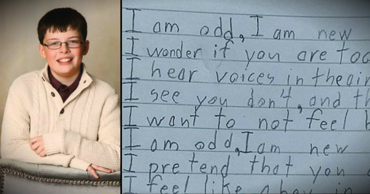 Boy With Autism Pens Touching Poem Honoring Differences