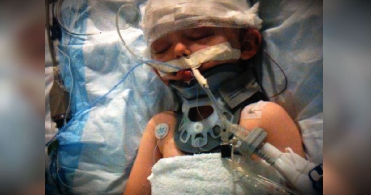 Freak Accident Nearly Killed Their Son, But Family Is Faithful