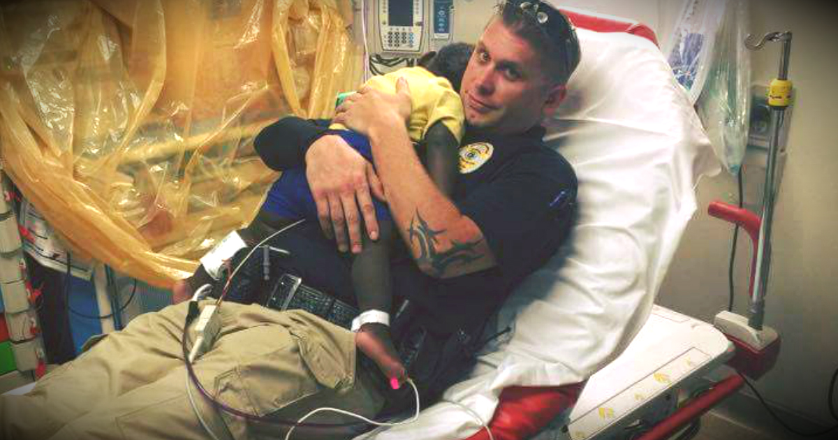 Abandoned Toddler Found Wandering Is Comforted By Police Officer