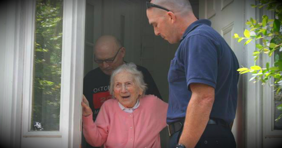 Firefighter's Widow Gets A Huge Surprise On Her 100th Birthday!