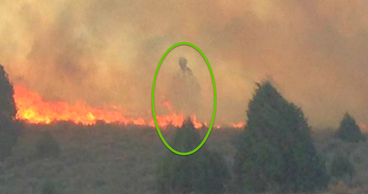 Mysterious Figure In Pic Over Cabin Spared From Idaho Fire - MIRACLE!