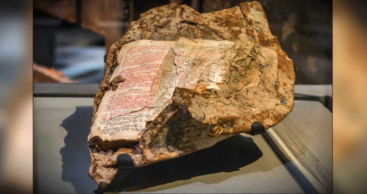 Bible Verse Fused To Chunk Of Rubble From 9/11 Is A Powerful Message