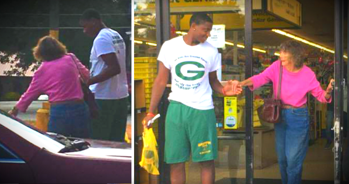 Teen Helped An Elderly Woman Who Was Struggling At The Dollar Store