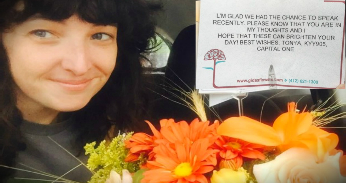 Capital One Rep Sends Flowers To Customer Dumped By Fiance