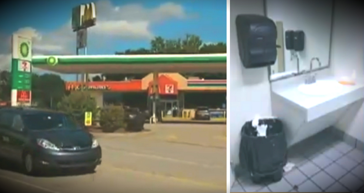 Newborn Baby Abandoned By Mom In Bathroom Trash Can At Gas Station