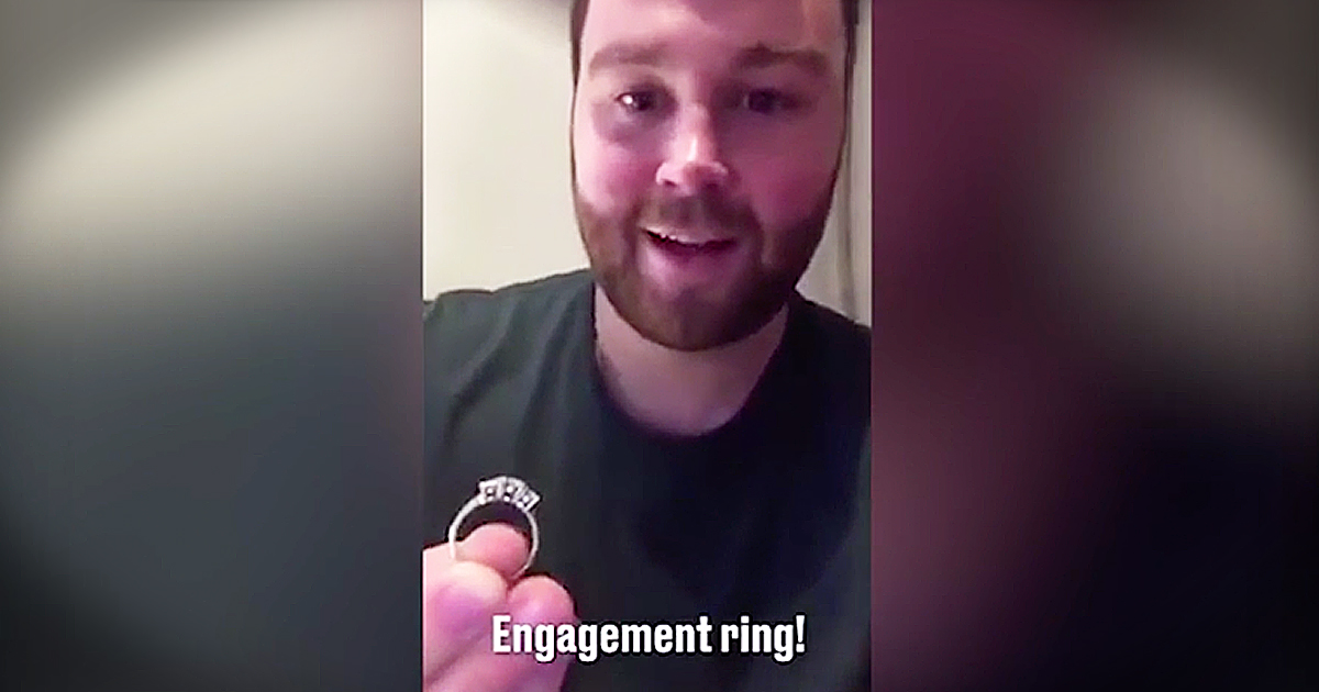 Parents Laugh After Boy At School Proposes To Their Daughter With Real Engagement Ring