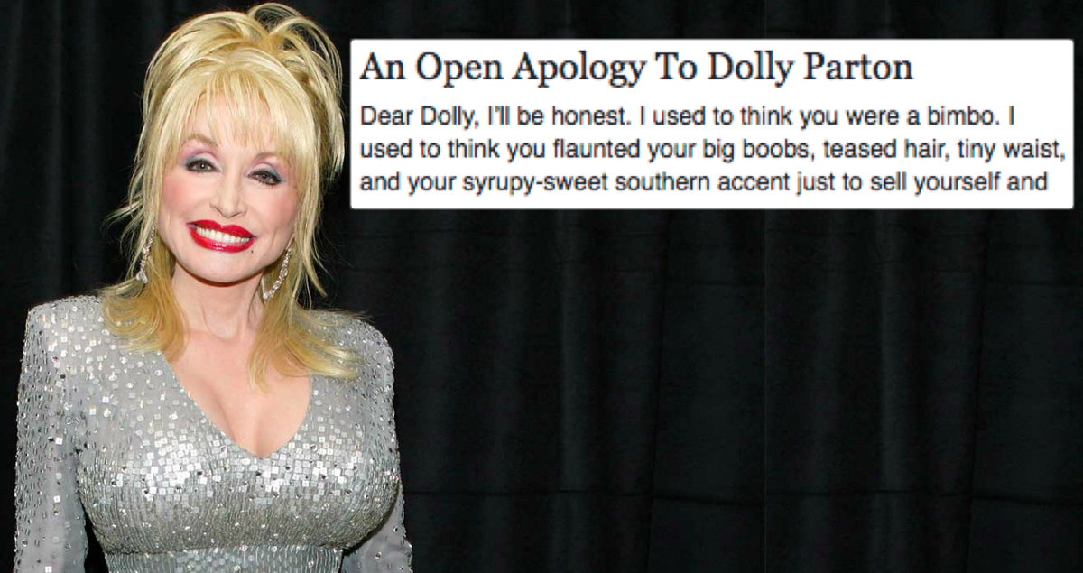 Woman Writes Open Letter Apologizing To Dolly Parton For Judging Her