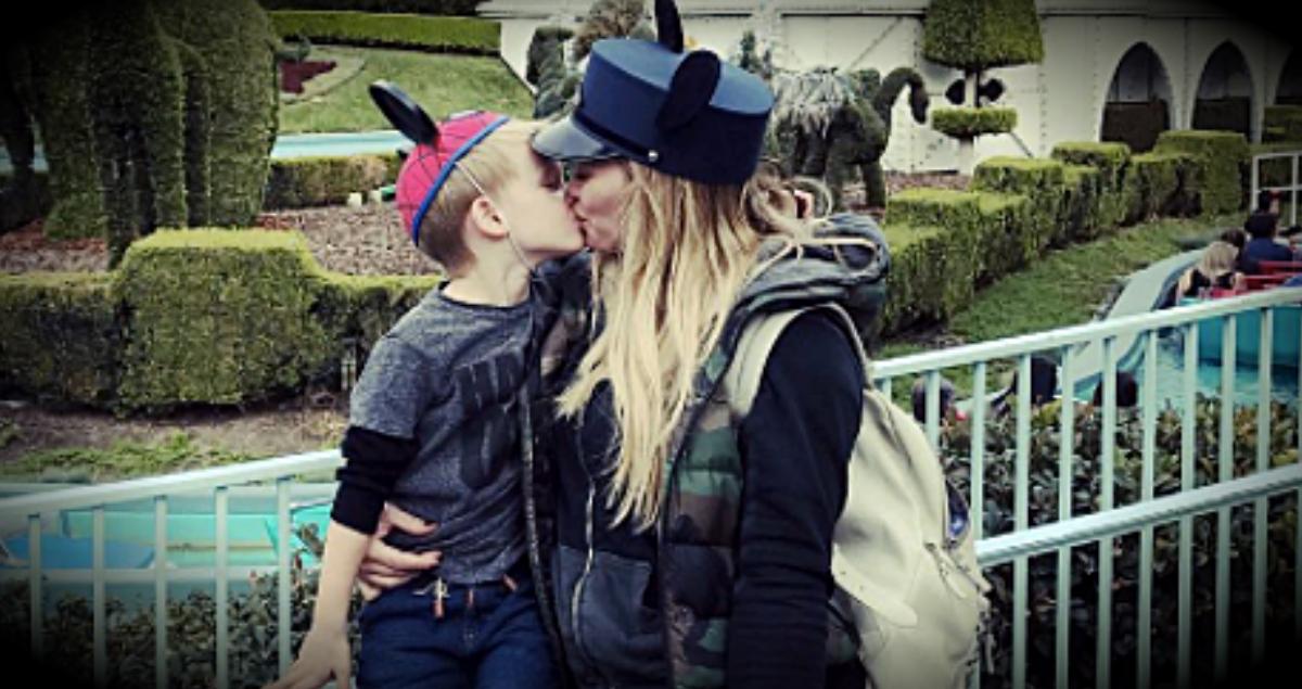 Hilary Duff Kissed Her Son At Disneyland & Got Mommy-Shamed