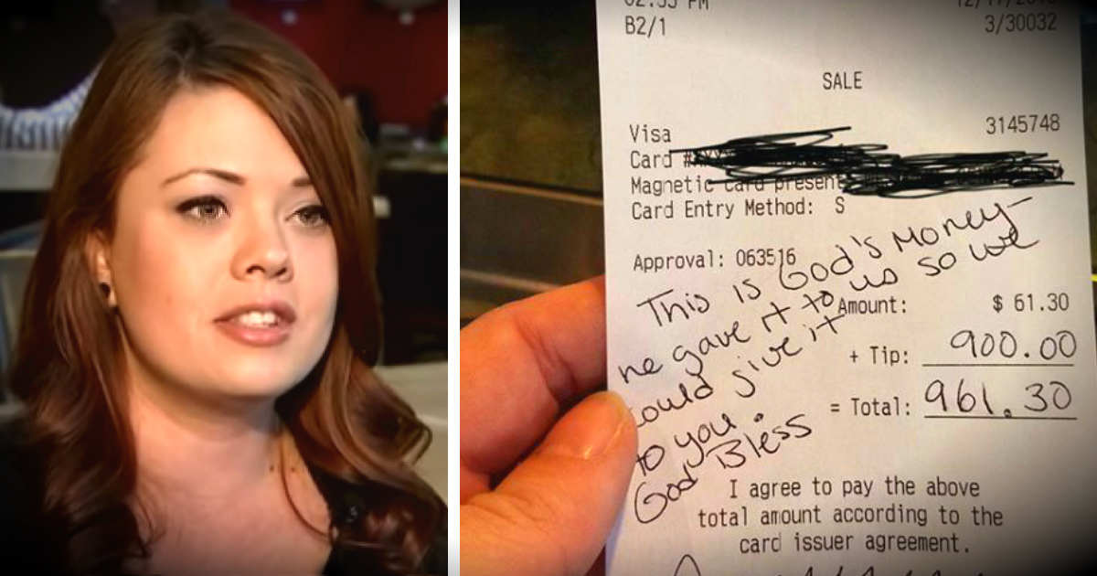 Pregnant Waitress Received A 900 Dollar Tip In Time For Fiancés Surgery