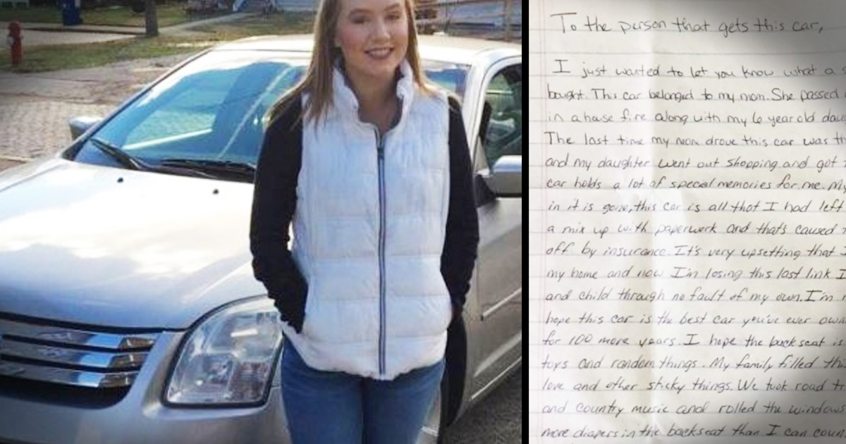 Dad Purchases A Used Car And Finds A Heartbreaking Letter Inside