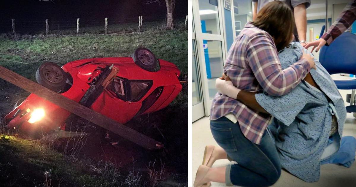 Man Miraculously Survives Car Crash & Pops Emergency Room Proposal